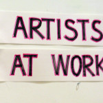Artists at Work Sign