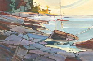 Wiemer Early Light, Ancient Shore - Watercolor & Acrylic