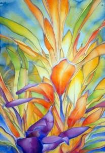 Carol Carter watercolor-leaves-floral-watercolor