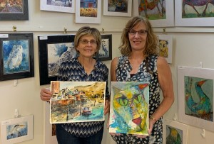 Sue and Lynette Demo paintings AM 2019